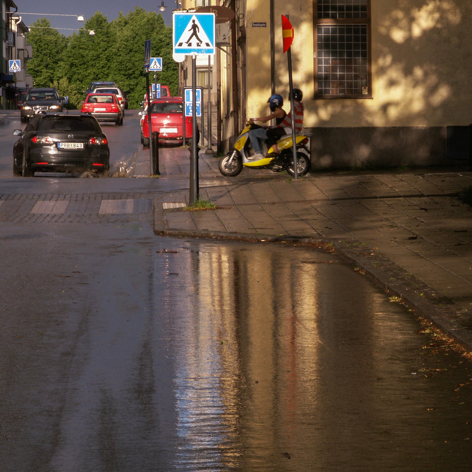 Storgatan/Hospitalsgatan, eastward. 2007 June 19 @ 19:39