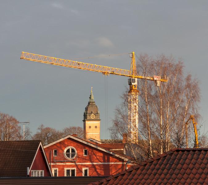 Strängnäs. Långbergsgatan. 2008 Nov 19 @ 08:58