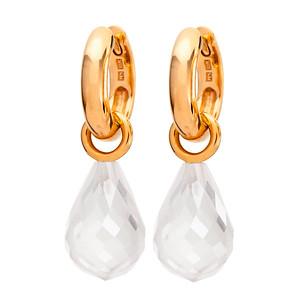 Strömdahls Juveler http://www.stromdahl.se  08 24 04 65   Creoler som finns i vitguld och guld Ø 12 mm. Påhängsdel med fasetterade brioletter. Pris ca: 10.700 kr