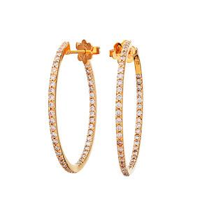 Strömdahls Juveler http://www.stromdahl.se  08 24 04 65 Creoler med 138 diamanter 0,85 carat totalt. Ø 30 mm. Pris: 33.750 kr