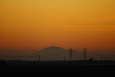 Mt. Diablo, Wilton CA Sunset
