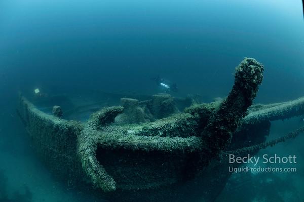 Anchor on the bow of the Sandusky