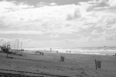 Strand Noordwijk zwart wit