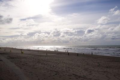 Strand Noordwijk tegenlicht