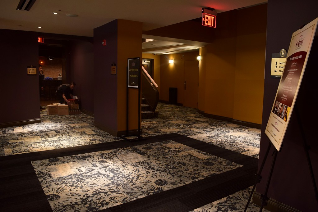 . The lobby of the Flagstar Strand Theatre for the Performing Arts on its opening night with the Russian National Ballet Theatre at 12 N. Saginaw St. in Pontiac on Monday, Jan. 23, 2017.