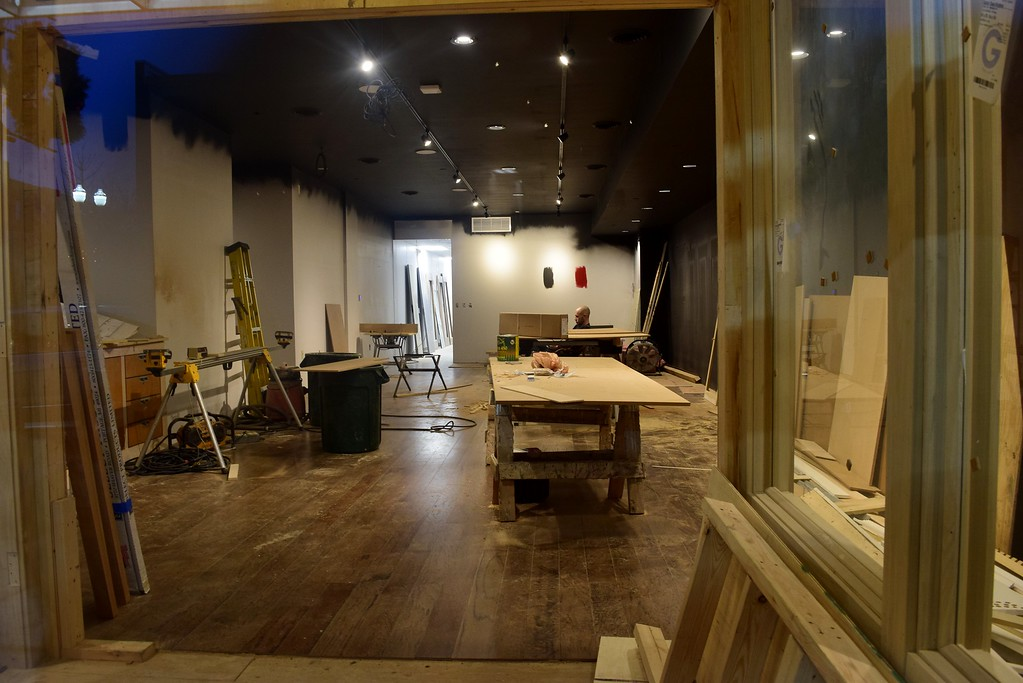 . Slows Bar BQ, still under construction, next to the Flagstar Strand Theatre for the Performing Arts on its opening night at 12 N. Saginaw St. in Pontiac on Monday, Jan. 23, 2017.