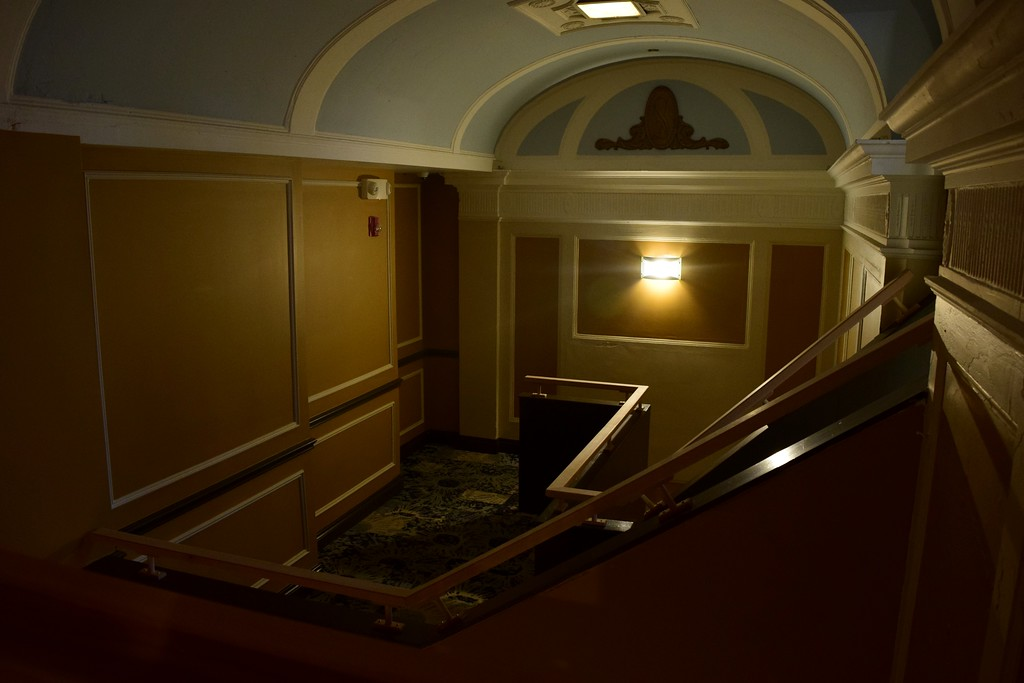 . Open cut-away walls on both sides of the staircase leading to the mezzanine level at the Flagstar Strand Theatre for the Performing Arts on its opening night with the Russian National Ballet Theatre at 12 N. Saginaw St. in Pontiac on Monday, Jan. 23, 2017.