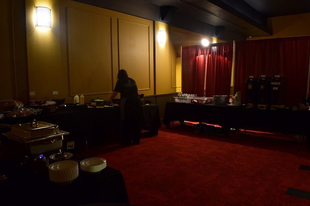 . The upstairs screening room, temporarily converted for the evening�s performers, at the Flagstar Strand Theatre for the Performing Arts on its opening night with the Russian National Ballet Theatre at 12 N. Saginaw St. in Pontiac on Monday, Jan. 23, 2017.