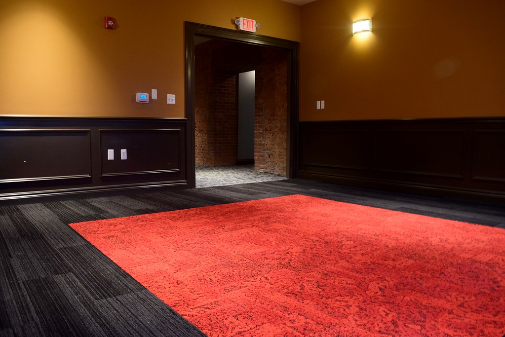 . A lounge area upstairs at the Flagstar Strand Theatre for the Performing Arts on its opening night with the Russian National Ballet Theatre at 12 N. Saginaw St. in Pontiac on Monday, Jan. 23, 2017.