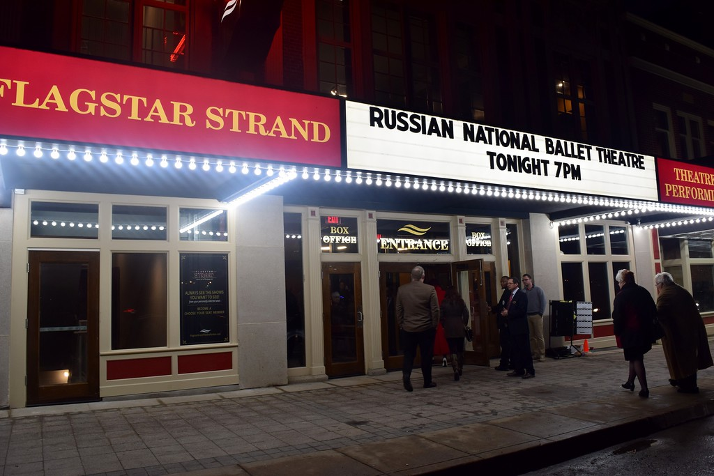 . VIP guests arriving to the early reception for opening night at the Flagstar Strand Theatre for the Performing Arts on its opening night with the Russian National Ballet Theatre at 12 N. Saginaw St. in Pontiac on Monday, Jan. 23, 2017.