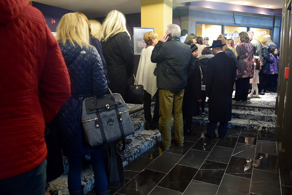 . The public lines up for the box office at the Flagstar Strand Theatre for the Performing Arts on its opening night with the Russian National Ballet Theatre at 12 N. Saginaw St. in Pontiac on Monday, Jan. 23, 2017.