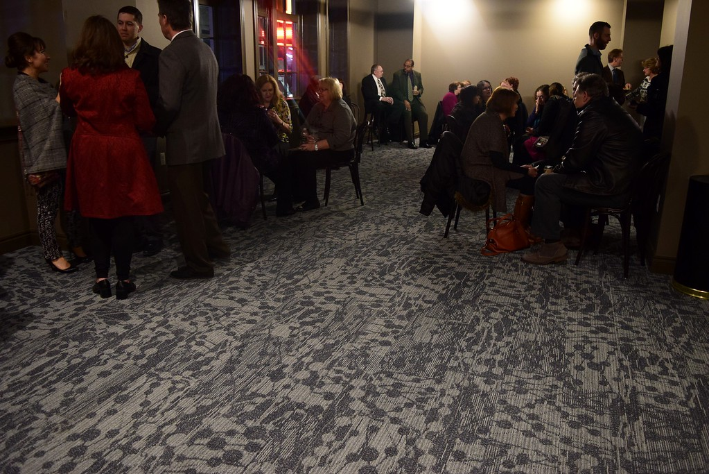 . Guests mingle at the VIP reception at the Flagstar Strand Theatre for the Performing Arts on its opening night with the Russian National Ballet Theatre at 12 N. Saginaw St. in Pontiac on Monday, Jan. 23, 2017.