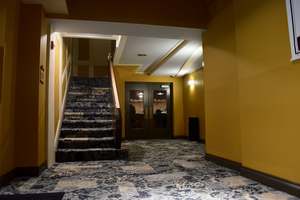 . A hallway with stairs leading to the mezzanine level at the Flagstar Strand Theatre for the Performing Arts on its opening night with the Russian National Ballet Theatre at 12 N. Saginaw St. in Pontiac on Monday, Jan. 23, 2017.