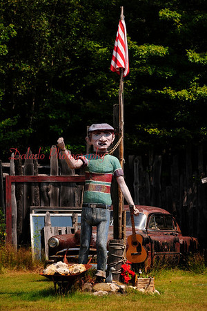 Another strange man along US 2 in New Hampshire.