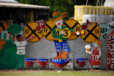 Retired PennDOT signs in Meadville, Pa.