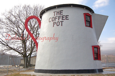 Giant coffee pot in Bedford, Pa.