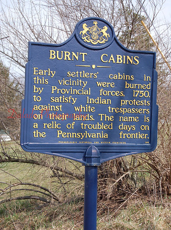 """Burnt Cabins"" in Pa."
