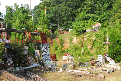 "...Anyhow, the area on both sides of the road were littered with old appliances, boxes, and other debris with the words ""hell"" and ""Jesus"" spelled on many. It was kind of freaky, but something you won't see any where else in the country."