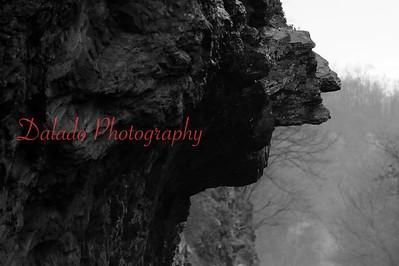 A interesting rock formation near Catawissa, Pa.