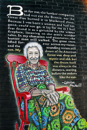 A part of a mural in West Virginia dedicated to Louise McNeill.