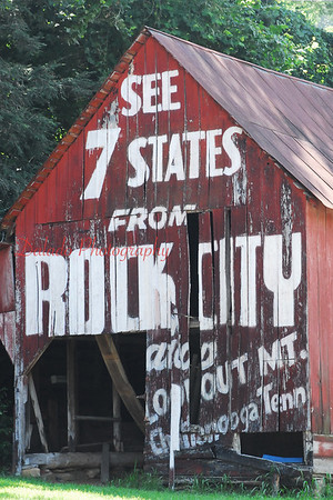 Some iconic signs along the road.