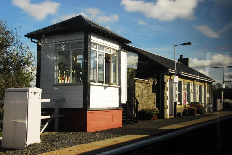 Barrhill Signal box [ Via train window]