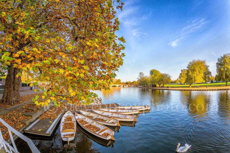 Riverside Boats In Autumn 2016