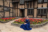 Shakespearean-actress-at-Shakespeare's-house-2,-Stratford-upon-Avon