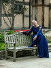 Shakespearean-actress-doing-a-scene-from-Shakespeare-at-Shakespeare's-birthplace-3,-Stratford-upon-Avon
