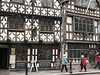 Garrick-Inn-(c1400)-and-Harvard-House,-timber-frame-wi h-plaster-infill,-leaded-glass-windows,-Stratford-upon-Avon