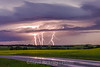 Lightning over canola