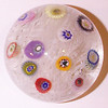 "DCP04989P22... Strathearn P22 small lace with eleven spaced millefiori canes, 2.45"" x 1.775"" and 9.5 ozs. Flat cut polished base. No label. circa 1965 to 1975. Discontinued 1 May 1978. acquired 05-02-11."