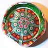 "DCP04544PSF72-S78...Strathearn PSF72DS ""S78"" large Limited Edition 8 spoke in a 1-2-2 design cartwheel with a top facet and five side facets on a dark green spatter ground, 2.76"" x 1.75"" and 14 ozs. Flat cut polished base. Black Strathearn label. Etched on base ""Strathearn 1978"" but NOT Numbered. Edition issue limited to 100 per year.  acquired 12-11-03."