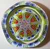 "DCP04618PSF72DS-S77...Strathearn PSF72DS ""S77"" large Limited Edition 8 spoke in a 1-2-2 design cartwheel with a top facet and five side facets on a lime/green ground, 2.8"" x 1.8"" and 14.5 ozs. Flat cut polished base. Black Strathearn label. Etched on base ""Strathearn 1977"" but NOT numbered. Edition issue limited to 100 per year. acquired 02-02-05."