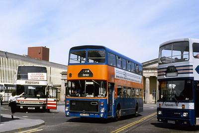Strathtay_Highland Hire SV4 Inverness Bus Station Jun 88