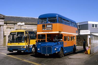 Strathtay_Highland Hire SR22 Inverness Bus Station Jun 88