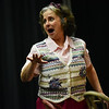 """(04/08/18 FITCHBURG MA) Lisa McGirr act's out her role as """"Betty"""" during Sunday's dress rehearsal at the Applewild School in Fitchburg for the Stratton Players upcoming production.  SENTINEL & ENTERPRISE JEFF PORTER"""