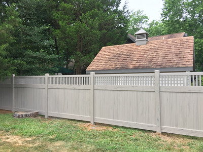 Custom Adobe Streaked and Embossed Montauk Fence