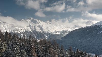 Piz Muragl and Val Bernina