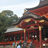 Approaching the Central Hall.<br /> Of Iwashimizu Hachiman-gu Shrine, Mount Otoko, Yawata city, Kyoto-fu, Japan.