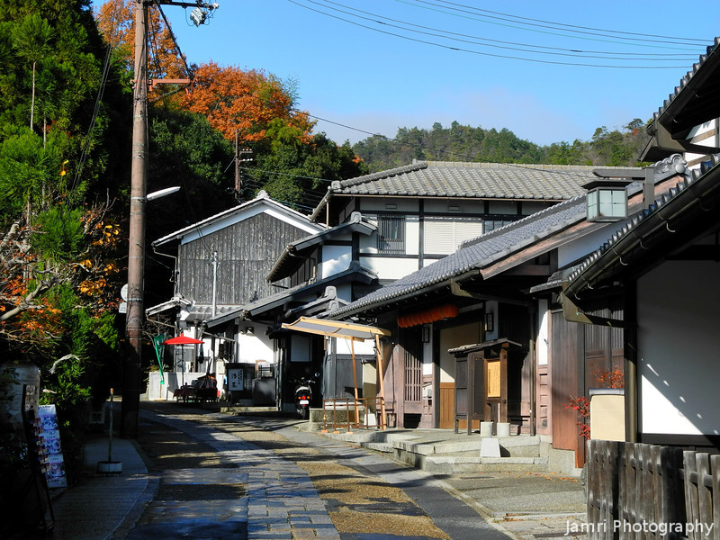 Back to Arashiyama.<br /> After hiking along a river then over a mountain.