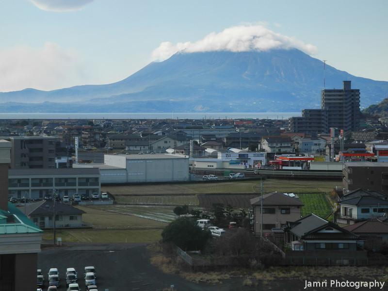 Cloud Covering the Top of Sakurajima.