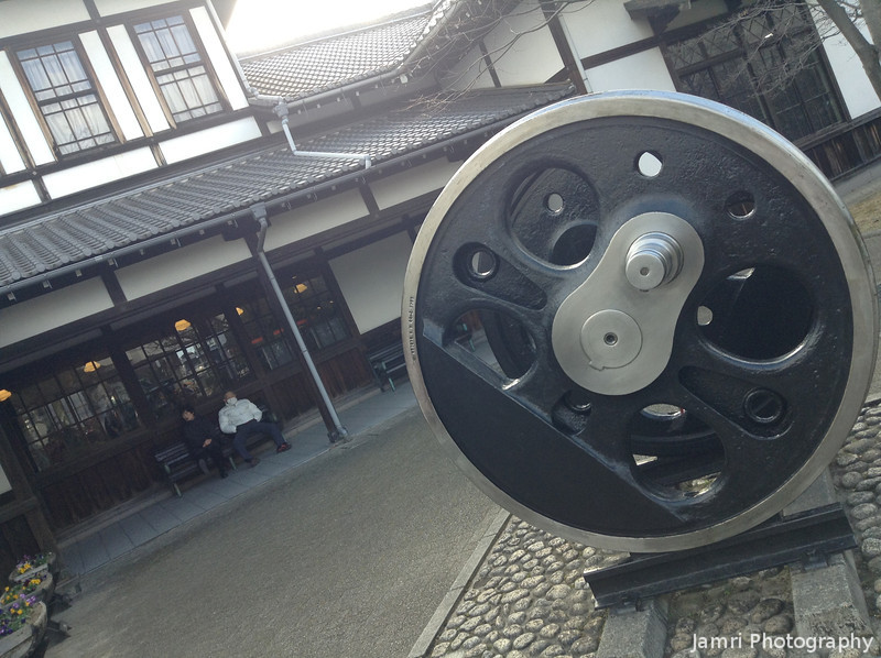 A Big Wheel.<br /> From a steam locomotive at the Umekoji Steam Locomotive Museum in Kyoto.