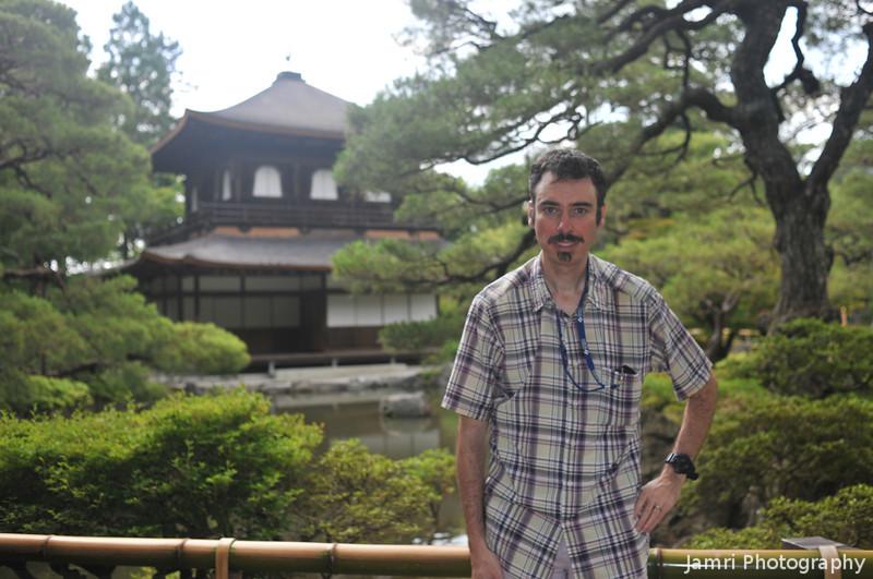 Me at Ginkaku-ji.<br /> Photo by Ritsuko.