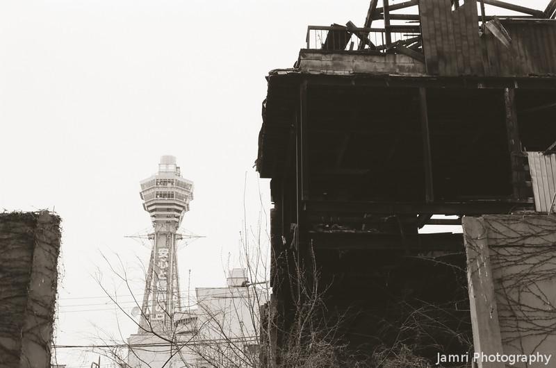 Ruins and the Tsutenkaku Tower