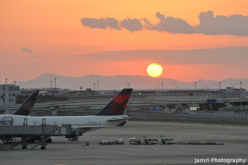 Sunset at Kansai Airport