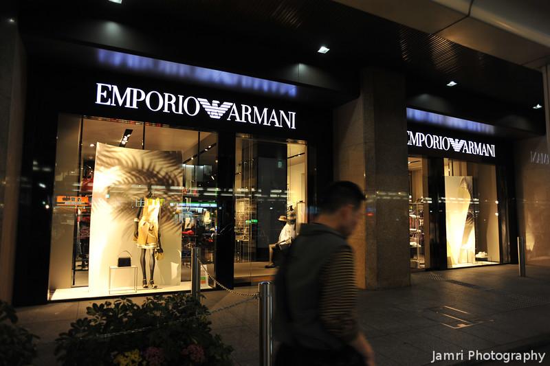 Passing Emporio Armani.