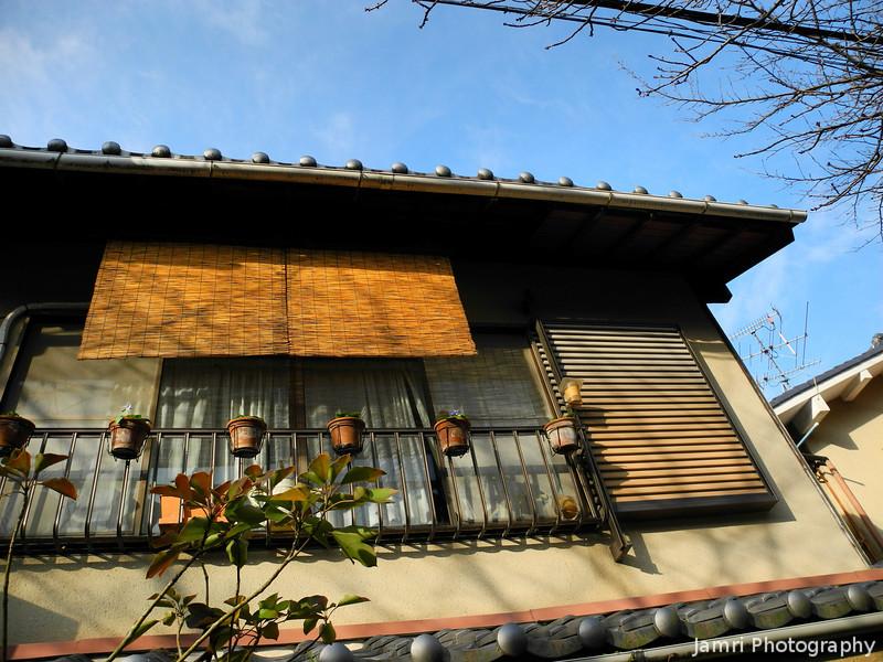 Catching a bit of Winter Sun.<br /> A House along Tetsugaku-no-michi, aka the Path of Philosophy in Kyoto.