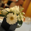 Flowers on the Table.<br /> The table which sat at during our friend Mio's wedding reception.