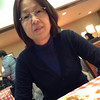 """Ritsuko at Shakey's Pizza in Kyoto. A while ago Ritsuko watched the video <A href=""""http://vimeo.com/40000072"""">Caine's Arcade</A>, which was inspiring. The star Caine happens to like going to Shakey's Pizza. Well, we found out there was store in Kyoto and decided to try it out. The Pizza was very delicious and it was only about 900yen for all you can eat Pizza, Pasta, Curry and Salad. Considering a pizza from Pizza Hut, Dominoes, etc cost more than 2000 yen here, I'd say Shakey's is a bargain."""